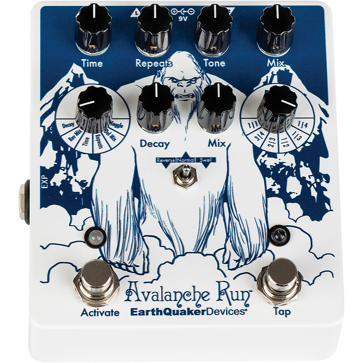 Earthquaker Devices Avalanche Run V2 Special Edition Attack of the Yeti Reverb/Delay Effects Pedal