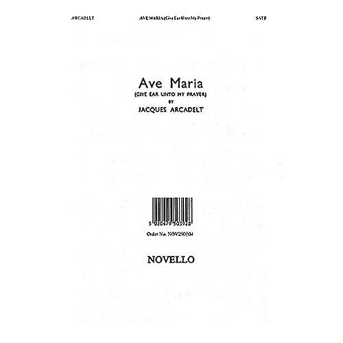 Novello Ave Maria SATB Composed by Jacques Arcadelt