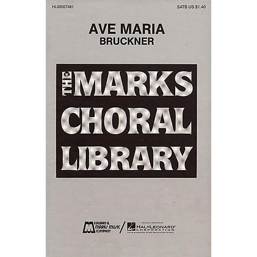 Edward B. Marks Music Company Ave Maria SATB DV A Cappella composed by Anton Bruckner