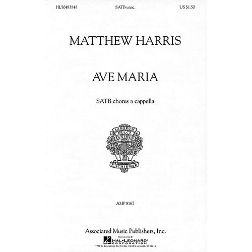 G. Schirmer Ave Maria (SATB a cappella) SATB a cappella composed by Matthew Harris