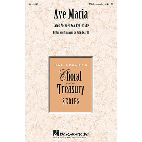 Hal Leonard Ave Maria TTBB A Cappella arranged by John Leavitt