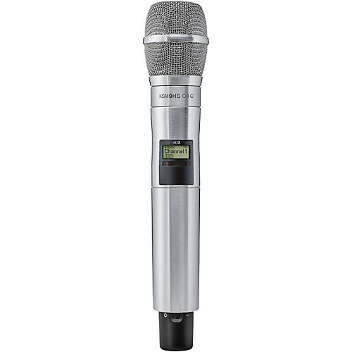 Shure Axient Digital AD2/K9HSN Handheld Wireless Transmitter with Nickel KSM9HS Microphone