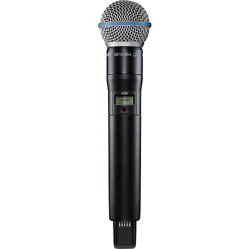 Shure Axient Digital ADX2/B58 Wireless Handheld Microphone Transmitter With BETA 58A Capsule