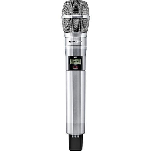 Shure Axient Digital ADX2/K9N Wireless Handheld Microphone Transmitter With KSM9 Capsule in Nickel