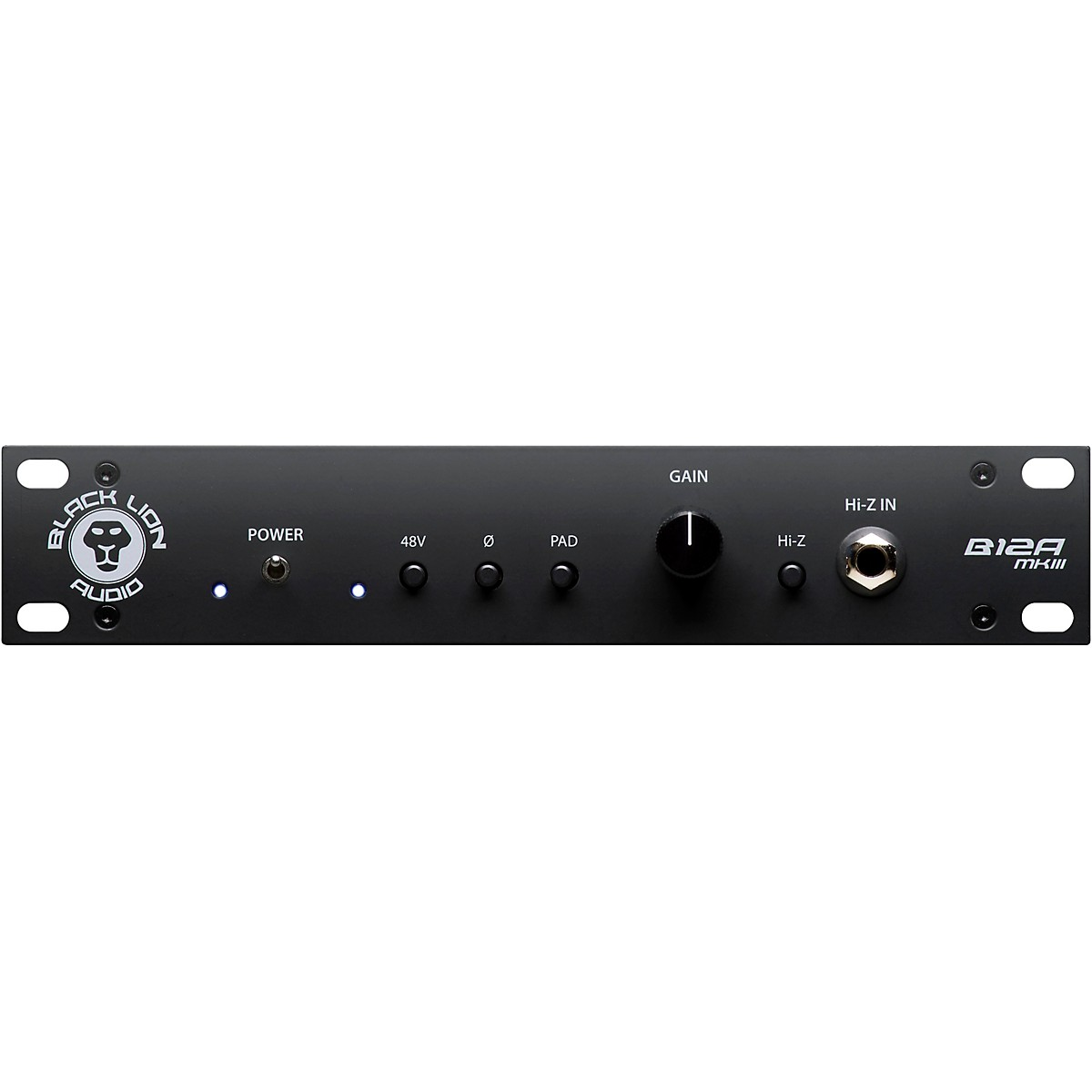 Black Lion Audio B12A MKIII American-Style Half-Rack Mic Pre/DI