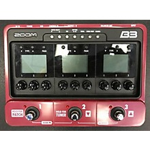 Zoom B3 Bass FX And Amp Simulator Bass Effect Pedal