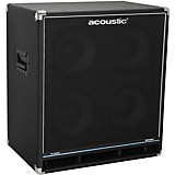 Acoustic B410C Classic 400W 4X10 Bass Speaker Cabinet Black