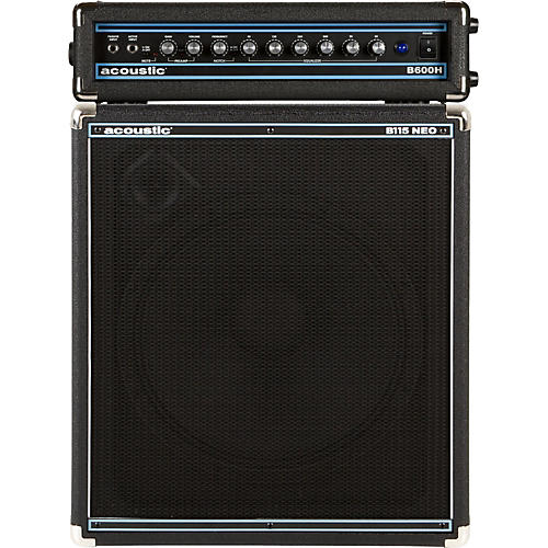 Acoustic B600H 600W Bass Head and B115NEO 1x15 Bass Stack