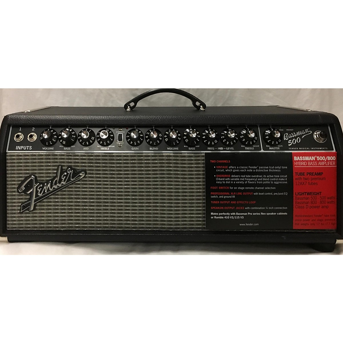 Fender BASSMAN 500 Tube Bass Amp Head