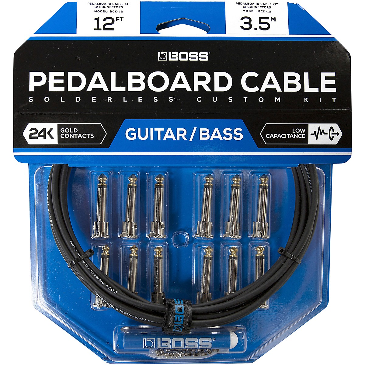 Boss BCK-12 Pedalboard Cable Kit, 12 Connectors