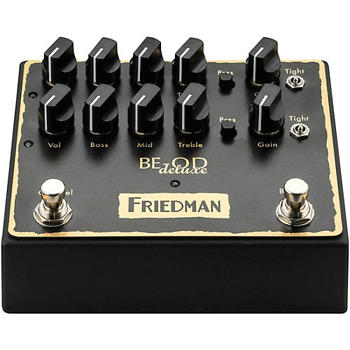 Friedman BE-OD Deluxe Dual Brown Eye Overdrive Effects Pedal