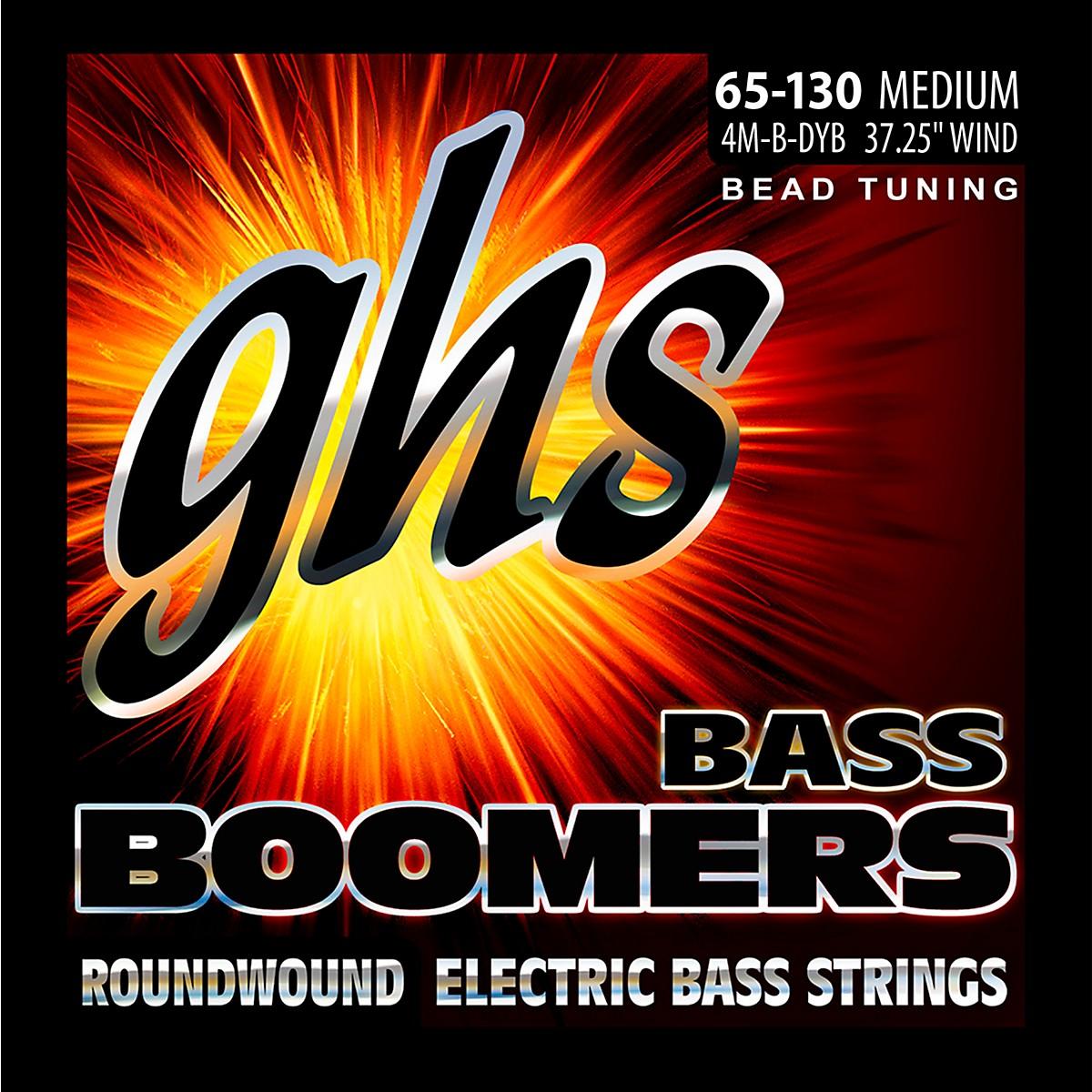 GHS BEAD Tuned Bass Boomers Medium (65-130) Strings