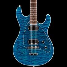 Ernie Ball Music Man BFR Steve Morse HH Quilt Top Electric Guitar w/Reverse Headstock Blue