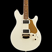 Ernie Ball Music Man BFR Valentine Electric Guitar with Bound Neck and Autographed Back Plate Ivory White