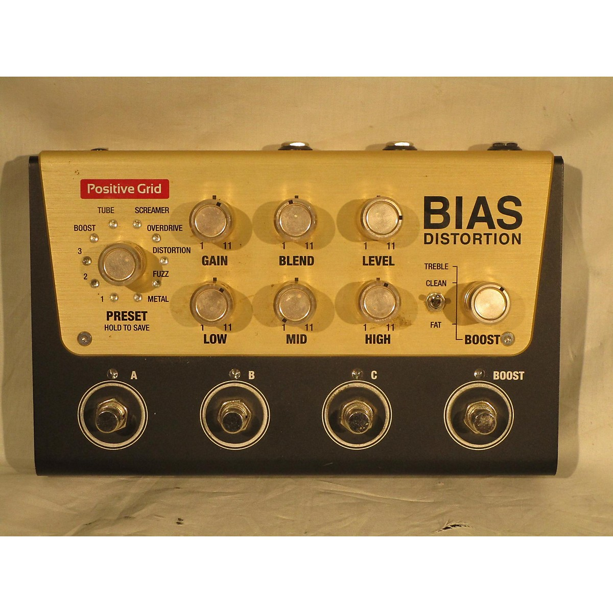 Positive Grid BIAS DISTORTION Effect Pedal