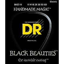DR Strings BLACK BEAUTIES Black Coated Heavy 7-String Electric Guitar Strings (11-60)