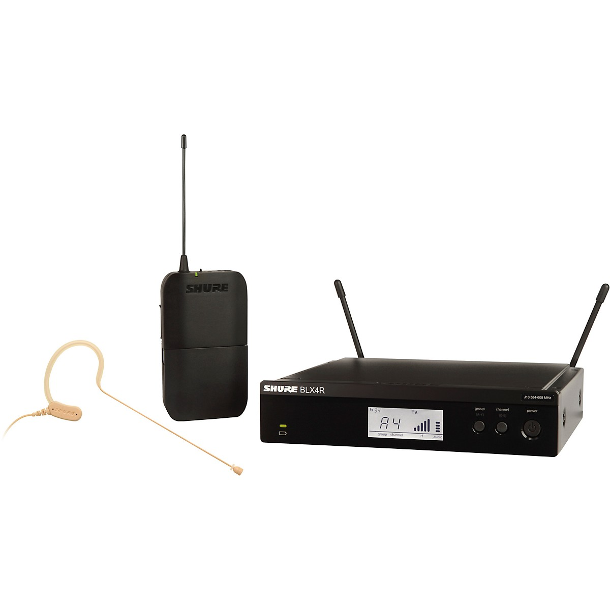 Shure BLX14R/MX53 Wireless Headset System with MX153 Headset Mic