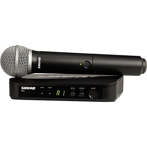 Shure BLX24 Handheld Wireless System With PG58 Capsule