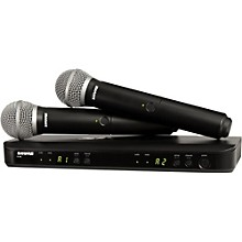 Shure BLX288/PG58 Dual-Channel Wireless System with Two PG58 Handheld Transmitters Level 1 Band H9