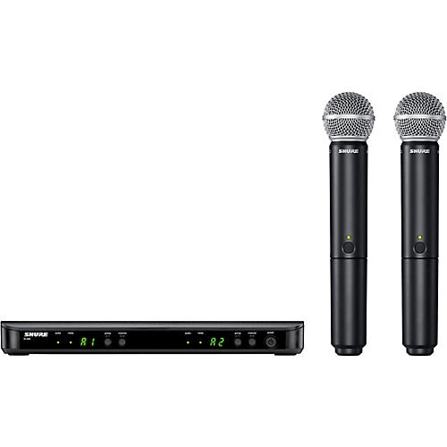Shure BLX288/SM58 Wireless Dual Vocal System with two SM58 Handheld Transmitters