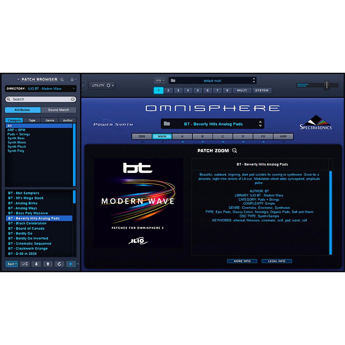 Ilio BT-Modern Wave - Artist Patches for Omnisphere 2 (Download)