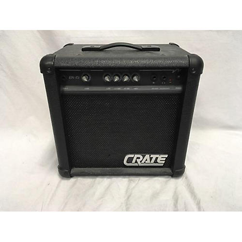used crate bx15 1x8 15w bass combo amp guitar center. Black Bedroom Furniture Sets. Home Design Ideas