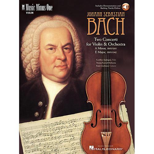Music Minus One Bach - Violin Conc No. 1 in A Min, BWV1041; Violin Conc No. 2 in E Maj, BWV1042 Music Minus One BK/CD