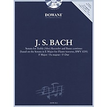 Dowani Editions Bach: Sonata for Treble (Alto) Recorder and Basso Continuo in F Major Dowani Book/CD Softcover with CD
