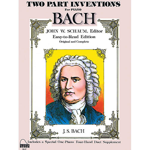 SCHAUM Bach Two-part Inventions Educational Piano Series Softcover