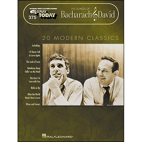 Hal Leonard Bacharach & David - The Songs Of 20 Modern Classics E-Z Play 375