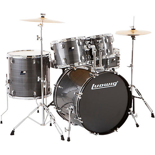 ludwig backbeat complete 5 piece drum set with hardware and cymbals guitar center. Black Bedroom Furniture Sets. Home Design Ideas