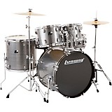 Ludwig Backbeat Complete 5-Piece Drum Set with Hardware and Cymbals Metallic Silver Sparkle