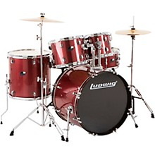 Backbeat Complete 5-Piece Drum Set with Hardware and Cymbals Wine Red Sparkle