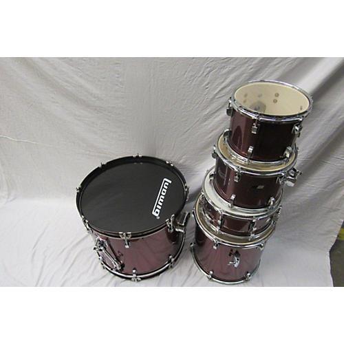 used ludwig backbeat drum kit red guitar center. Black Bedroom Furniture Sets. Home Design Ideas