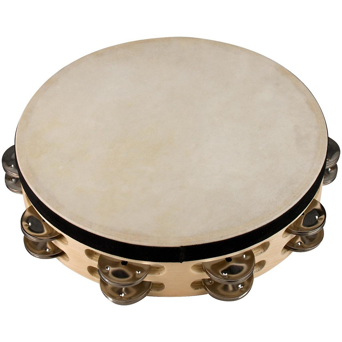 Sound Percussion Labs Baja Percussion Double Row Tambourine with Steel Jingles