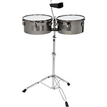 Sound Percussion Labs Baja Percussion Set of Timbales with Cowbell and Adjustable Stand