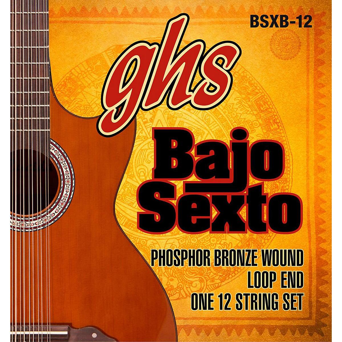 GHS Bajo Sexto 12-String Phosphor Bronze Acoustic Guitar Strings