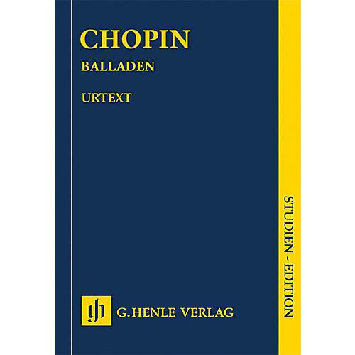 G. Henle Verlag Ballades (Revised Edition Piano Study Score) Henle Study Scores Series