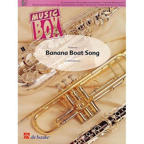 De Haske Music Banana Boat Song (Music Box Variable Wind Quartet plus Percussion) Concert Band Level 2 by Roland Kernen