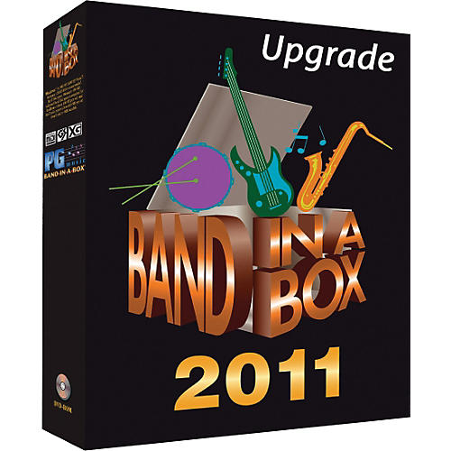 PG Music Band-in-a-Box 2011 Pro Windows Upgrade from 2010