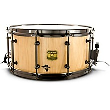 Bandit Series Snare Drum with Black Hardware 14 x 6.5 in. Notorious Natural Wood