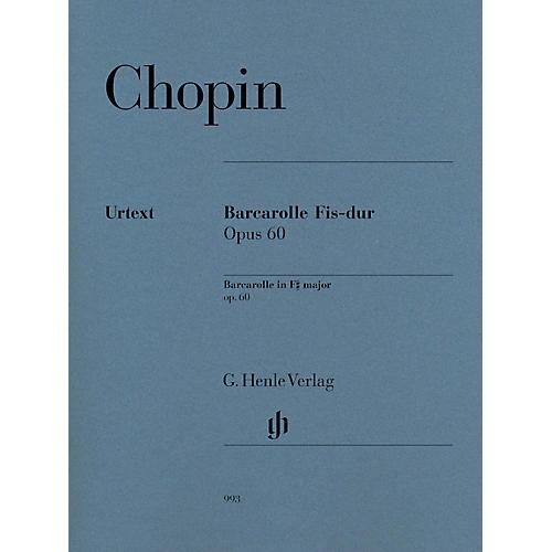 Hal Leonard Barcarolle In F# Major Op. 60 For Piano