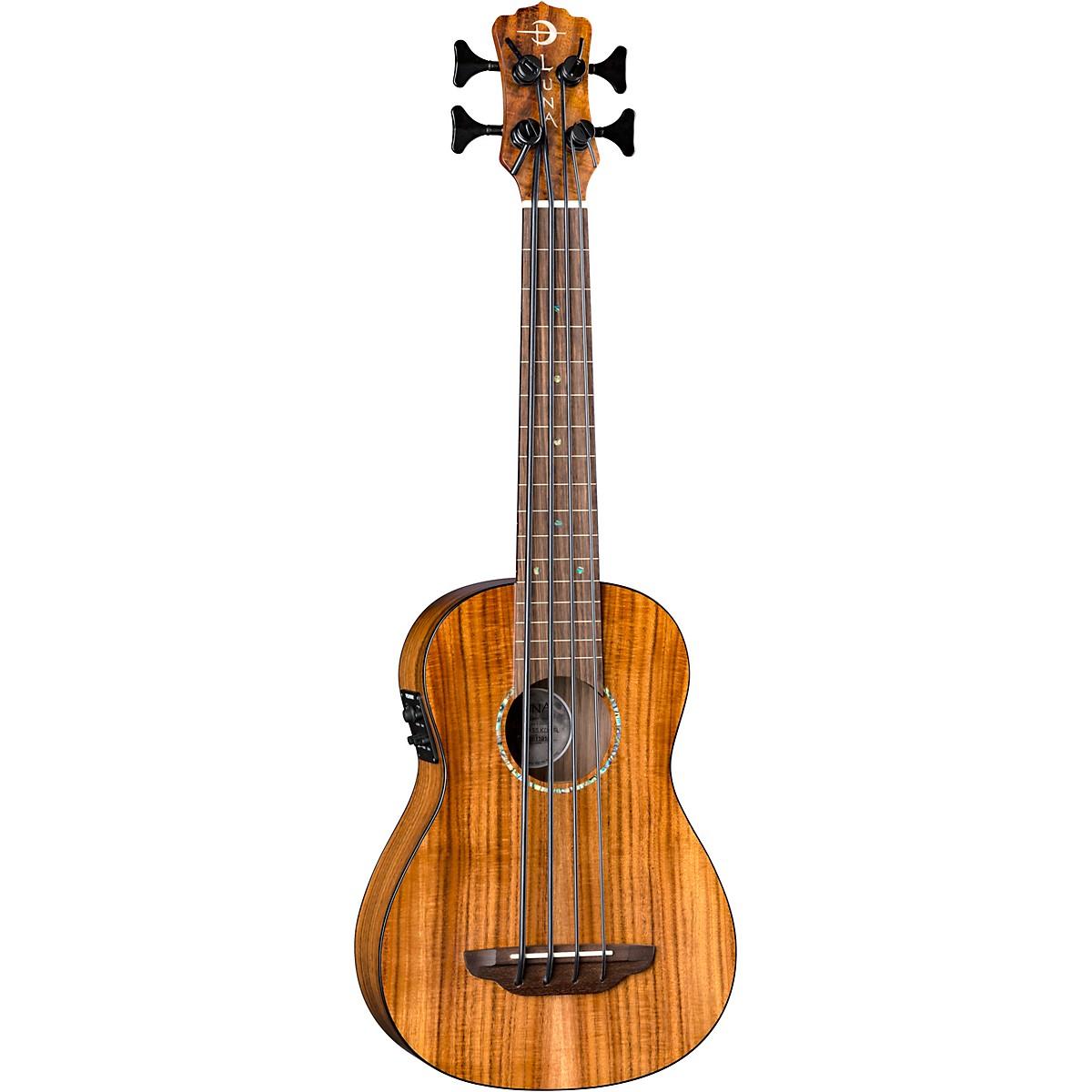 Luna Guitars Bari-Bass Fretless Acoustic-Electric Koa Ukulele