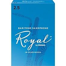 Rico Royal Baritone Saxophone Reeds, Box of 10 Strength 2.5