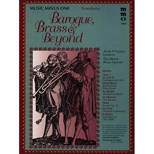 Music Minus One Baroque, Brass & Beyond (Music Minus One Trombone) Music Minus One Series Softcover with CD by Various