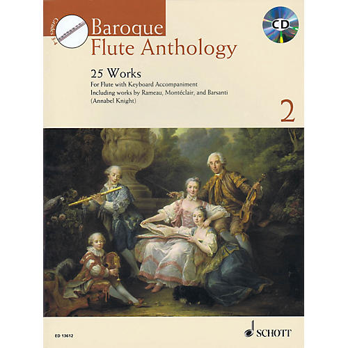 Schott Baroque Flute Anthology - Volume 2 (25 Works for Flute and Piano) Woodwind Solo Series Softcover with CD