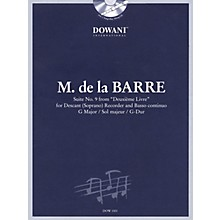 Dowani Editions Barre: Suite No 9 from Deuxième Livre in G Maj for Descant (Soprano) Recorder & Basso Cont Dowani Book/CD