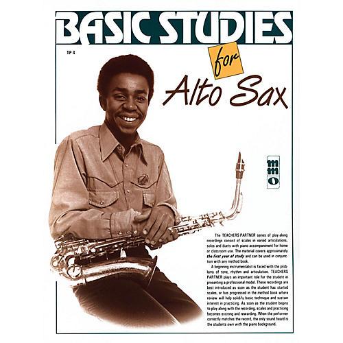 Music Minus One Basic Studies for Alto Sax (Teacher's Partner) Music Minus One Series Book with CD