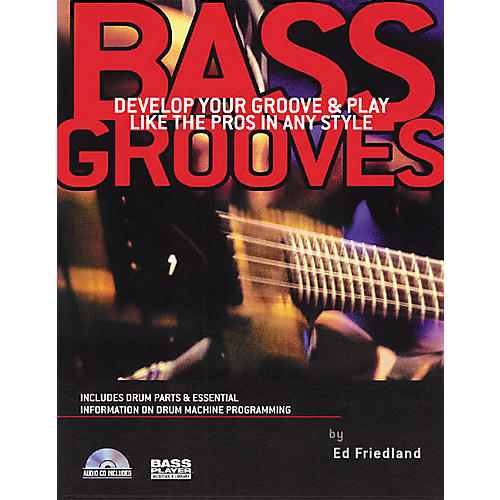 Backbeat Books Bass Grooves - Play Like the Pros (Book/CD)