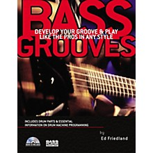 Backbeat Books Bass Grooves (Book/CD)